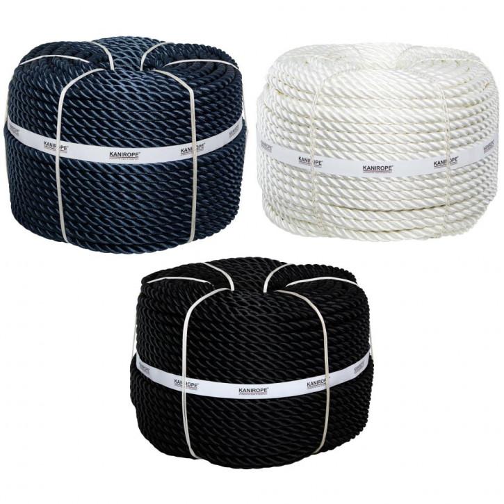 Corde polyester POLYTWIST ø18mm 3-torons torsadée de Kanirope®