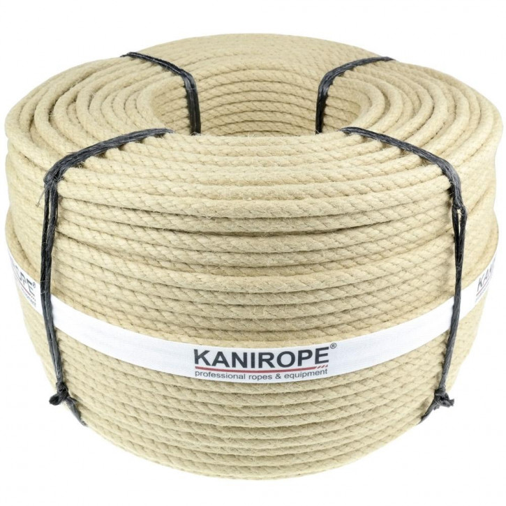 Corde chanvre synthétique SPINTWIST ø8mm 4-torons torsadée de Kanirope®