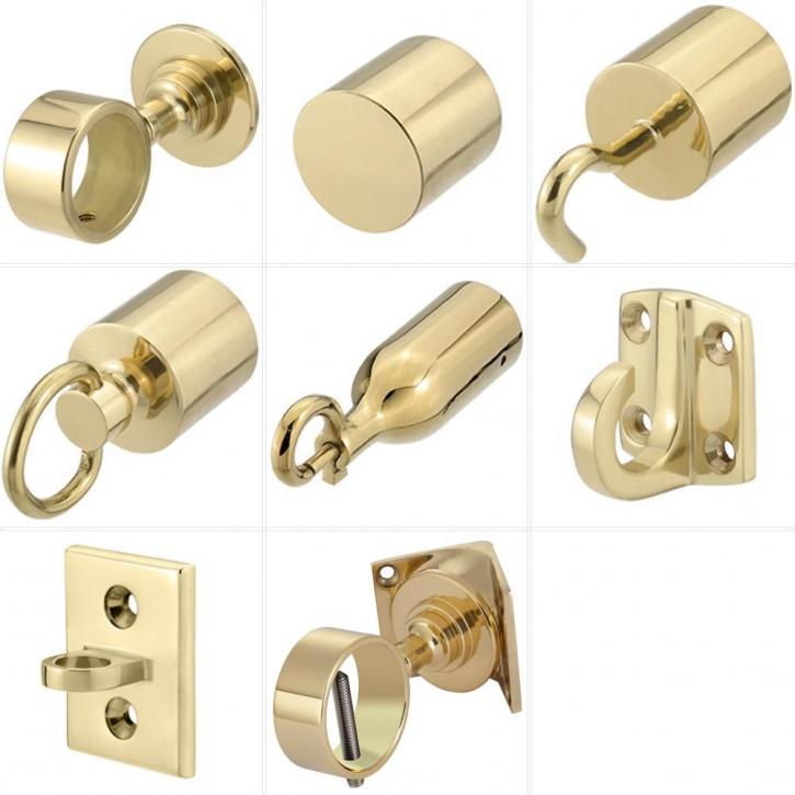 """Accessoires pour barriere corde """"Laiton brillant"""" de Kanirope®"""