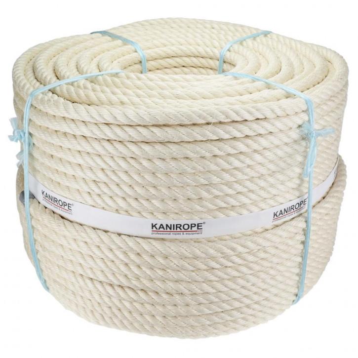 Corde sisal AGAVE ø16mm 4-torons torsadée de Kanirope®