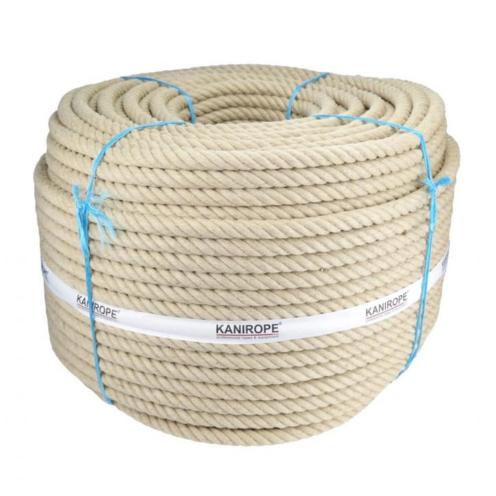 Corde chanvre HEMPTWIST ø60mm 4-torons torsadée de Kanirope®