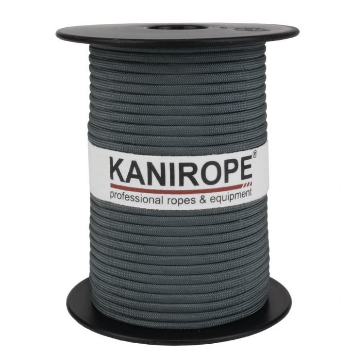 Paracord 550 XPRO ø3,8mm gris tressée de Kanirope®