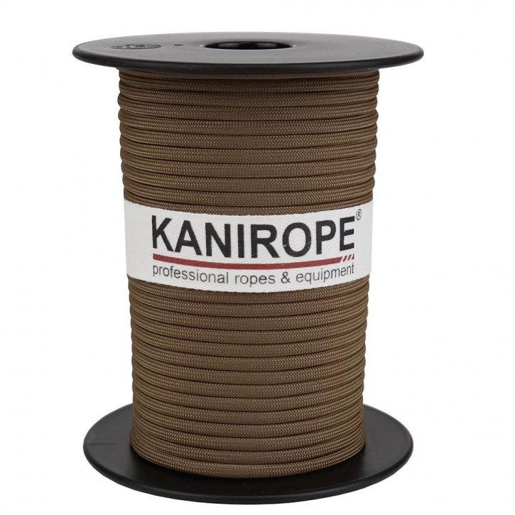 Paracord 550 XPRO ø3,8mm marron clère tressée de Kanirope®