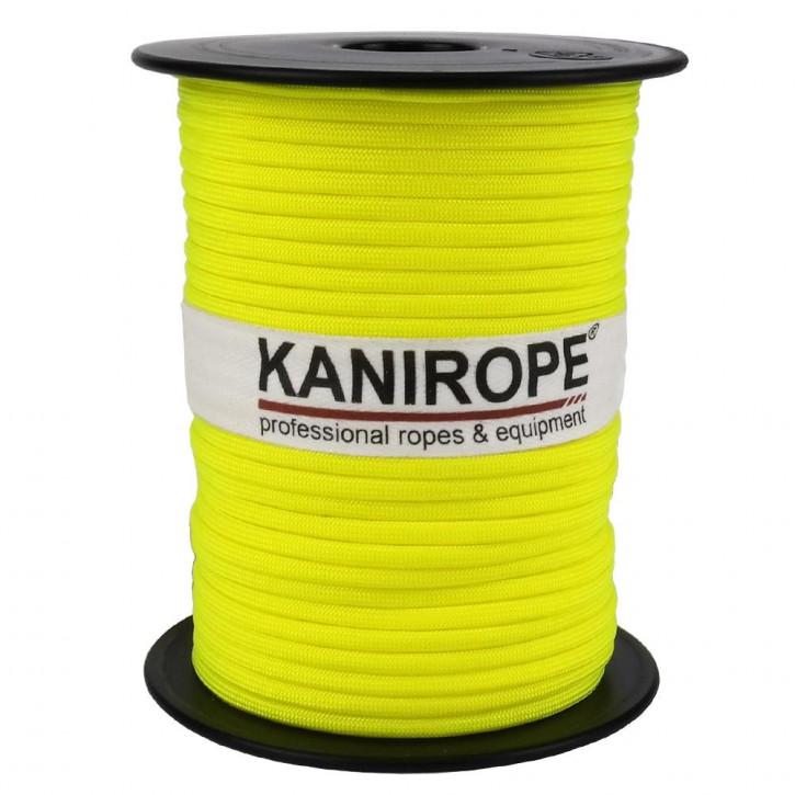 Paracord 550 XPRO ø3,8mm jaune fluo tressée de Kanirope®
