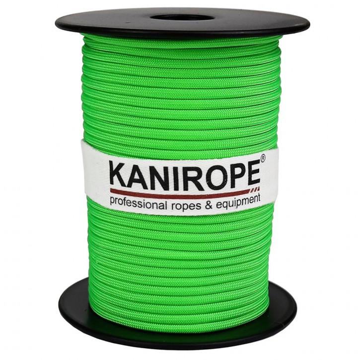Paracord 550 XPRO ø3,8mm vert fluo tressée de Kanirope®