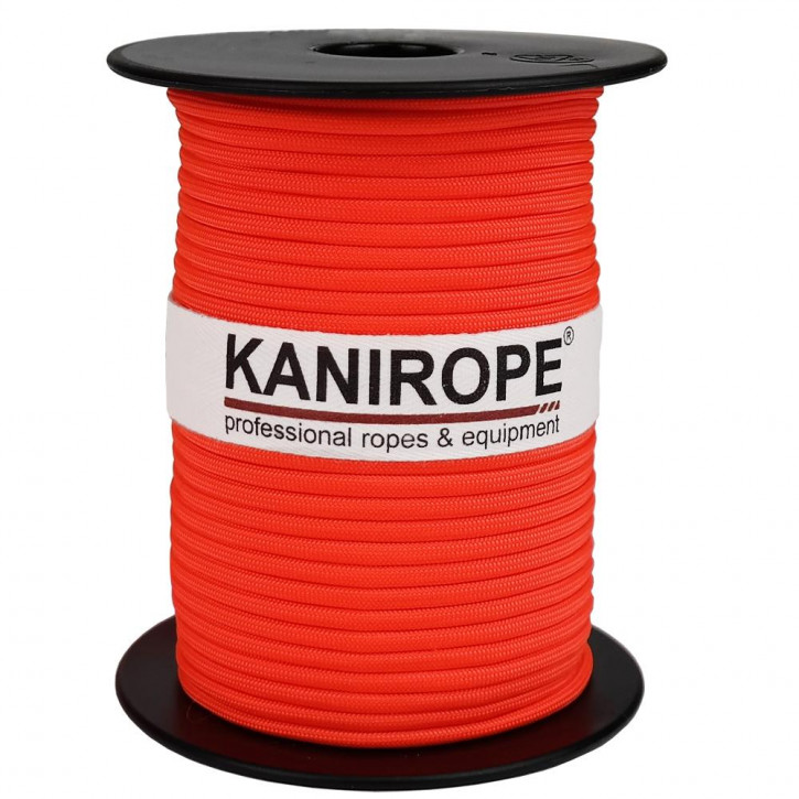 Paracord 550 XPRO ø3,8mm orange fluo tressée de Kanirope®