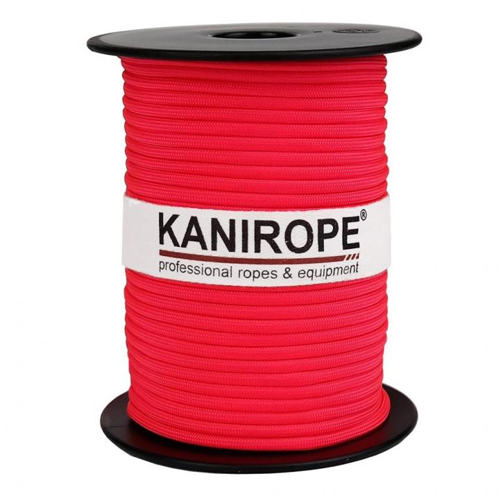 Paracord 550 XPRO ø3,8mm pink fluo tressée de Kanirope®