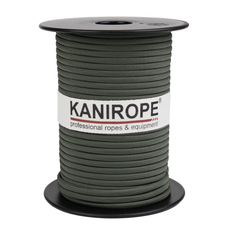 Paracord 550 XPRO ø3,8mm olive tressée de Kanirope®