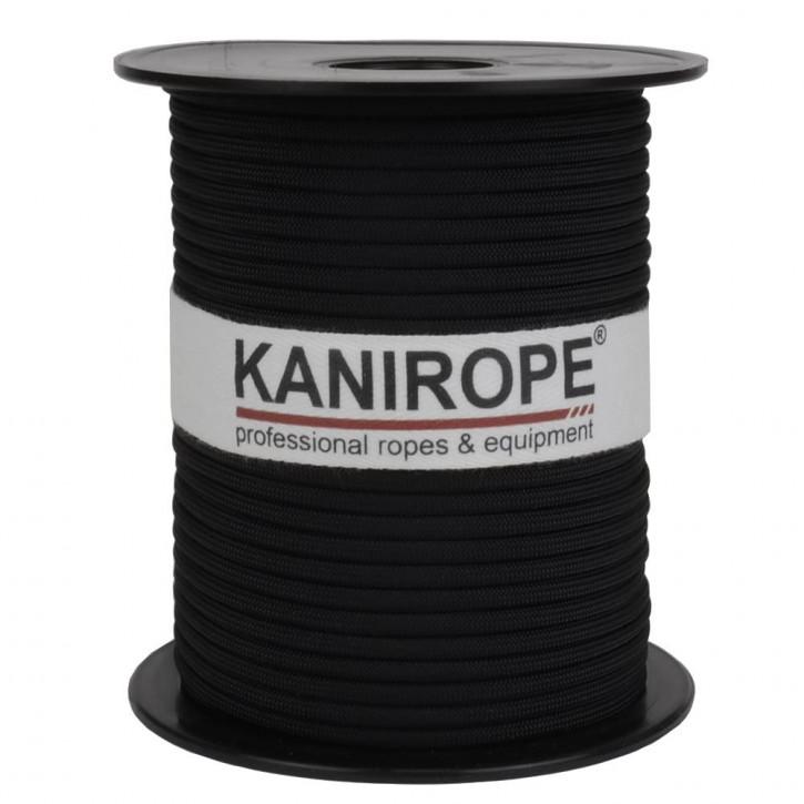 Paracord 550 XPRO ø3,8mm noir tressée de Kanirope®