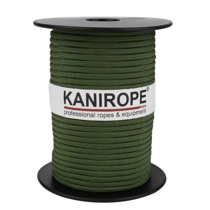 Paracord 550 XPRO ø3,8mm vert sapin tressée de Kanirope®