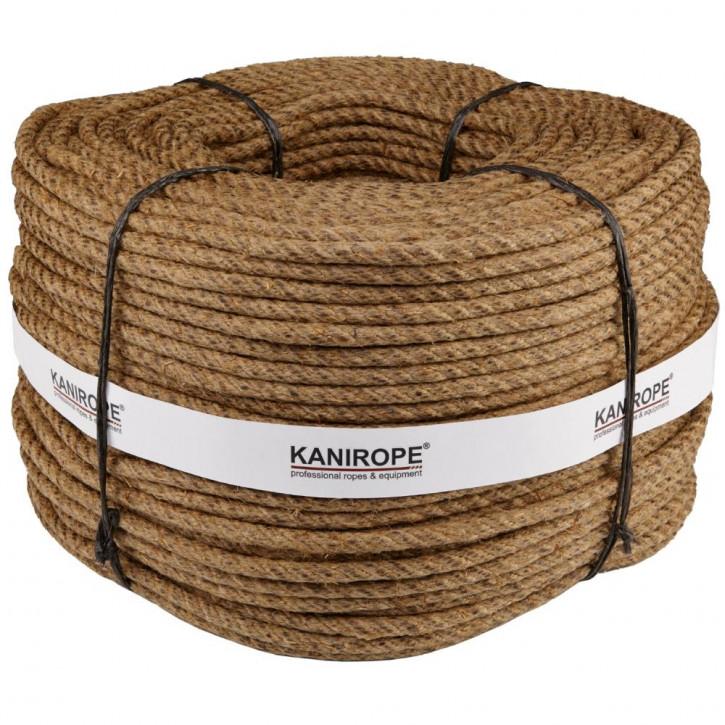 Corde chanvre HEMPTWIST ø8mm 220m 4-torons torsadée de Kanirope®
