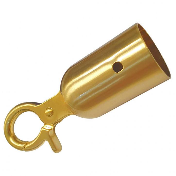 Embout de corde avec mousqueton PRIME pour une barriere d'un diamètre de ø28mm- ø30mm de Kanirope®
