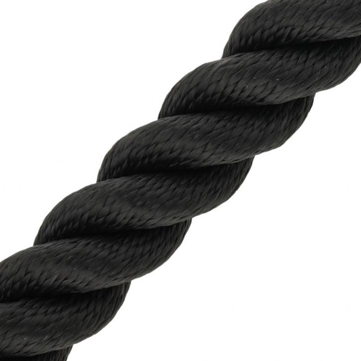 Main courante MULTITWIST ø28mm au mètre (mètre par pièce) noir de Kanirope®