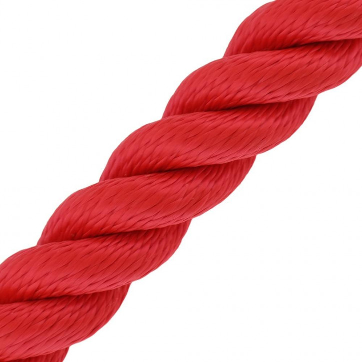 Barriere corde MULTITWIST ø28mm au mètre (mètre par pièce) rouge de Kanirope®