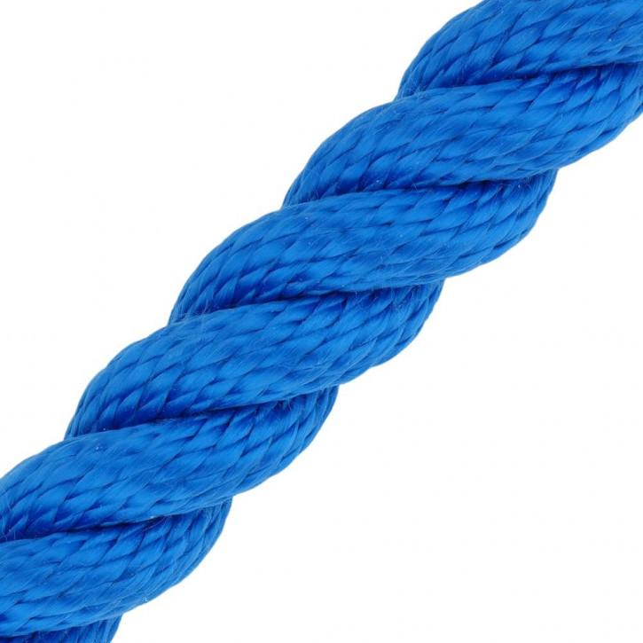 Barriere corde MULTITWIST ø28mm au mètre (mètre par pièce) bleu de Kanirope®