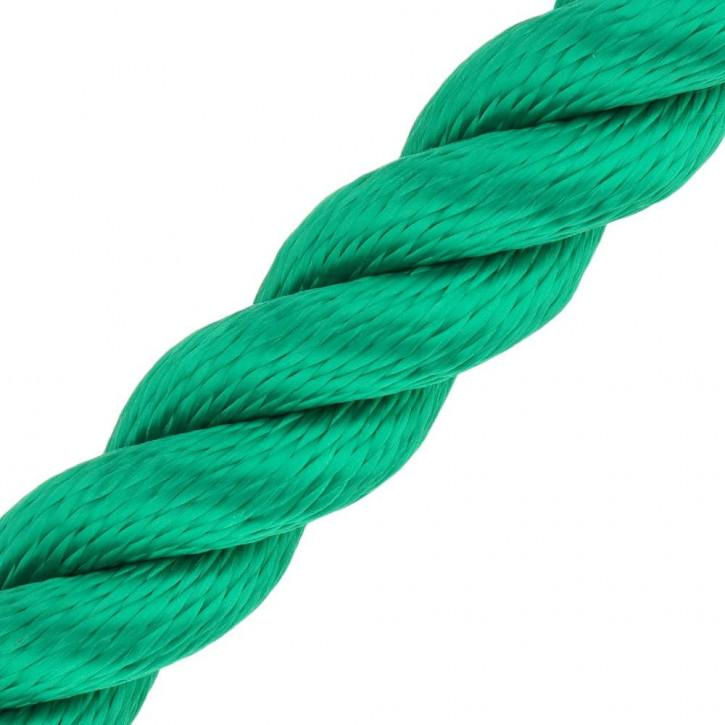 Main courante MULTITWIST ø28mm au mètre (mètre par pièce) vert de Kanirope®