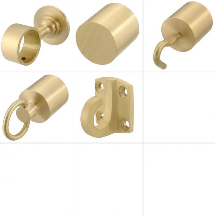 """Accessoires pour barriere corde """"Laiton mat"""" de Kanirope®"""