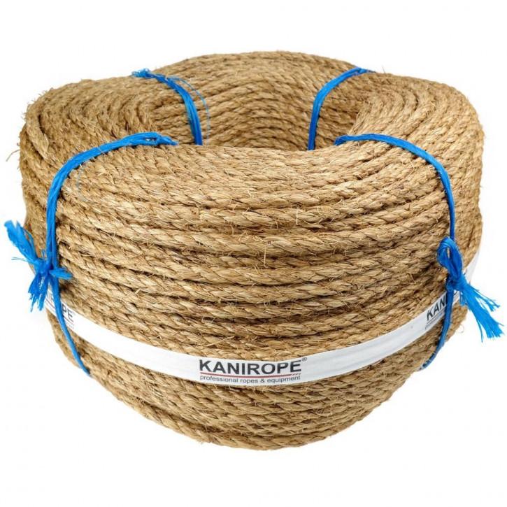 Corde manille ABACA ø16mm 220m 3-torons torsadée de Kanirope®