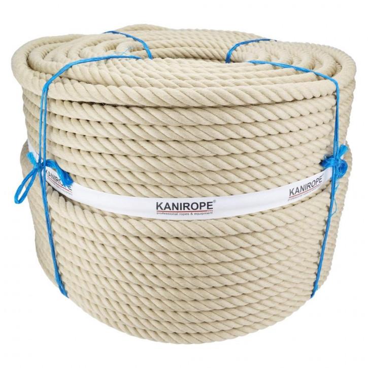 Corde chanvre synthétique SPINTWIST ø20mm 4-torons torsadée de Kanirope®