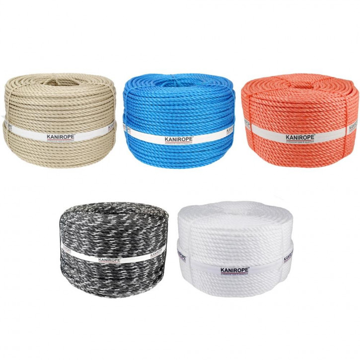 Corde polypropylène fibrillé PP SPLIT ø12mm 3-torons torsadée de Kanirope®