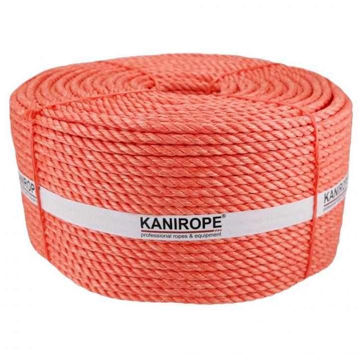 Corde polypropylène fibrillé PP SPLIT ø4mm 500m orange 3-torons torsadée de Kanirope®
