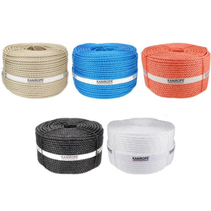 Corde polypropylène fibrillé PP SPLIT ø6mm 3-torons torsadée de Kanirope®