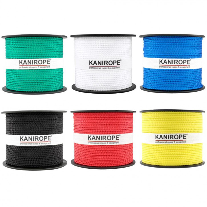 Corde polypropylène PP MULTIBRAID (couleurs standards) ø2mm 8x tressée de Kanirope®