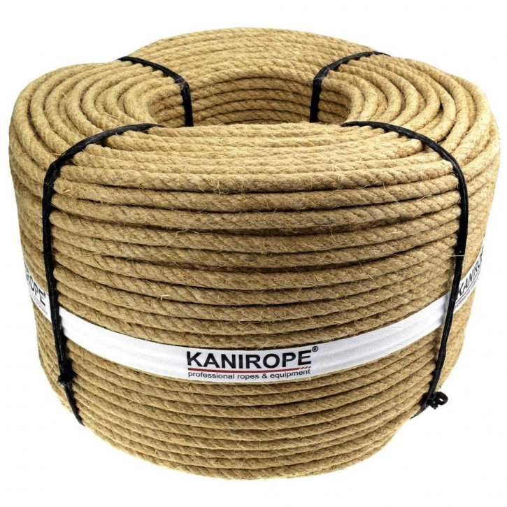 Corde jute J-TWIST ø6mm 3-torons torsadée de Kanirope®