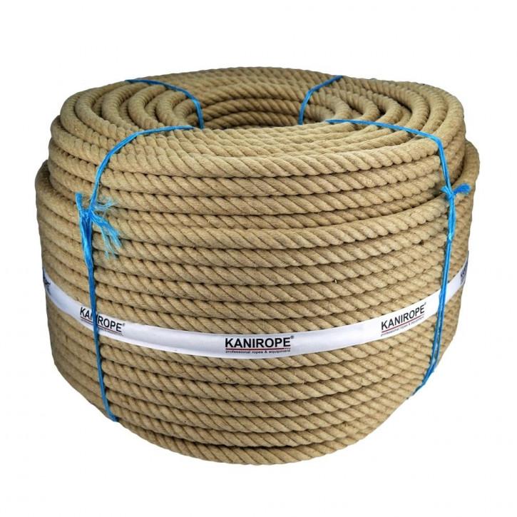 Corde jute J-TWIST ø18mm 3-torons torsadée de Kanirope®